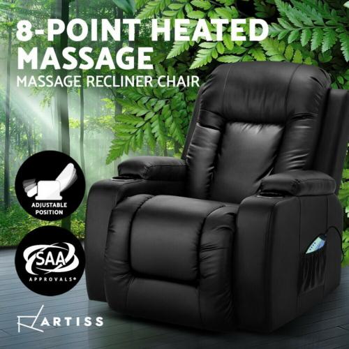 Fine Artiss Electric Massage Chair Recliner Luxury Lounnge Sofa Bralicious Painted Fabric Chair Ideas Braliciousco