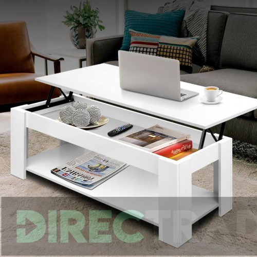 Artiss Lift Up Top Mechanical Coffee Table White