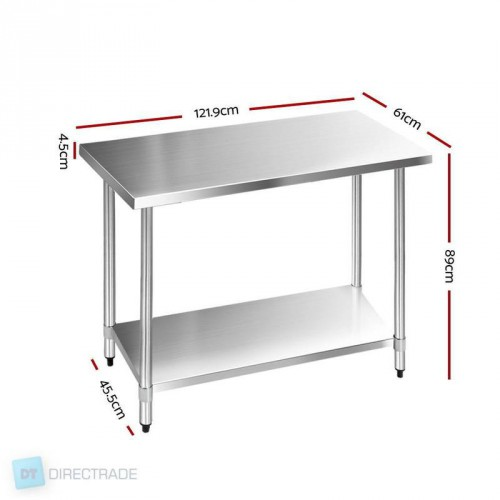 Swell 610 X 1219Mm Commercial Stainless Steel Kitchen Bench Pabps2019 Chair Design Images Pabps2019Com